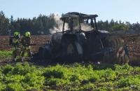 12.10.2019  – Brand-Einsatz – Brand einer landwirtschaftlichen Maschine bei Upfkofen.